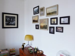Picture wall ideas. Collage of pictures hung for Martyn in Seven Dials, Brighton