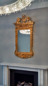 Ornate gilt framed antique mirror