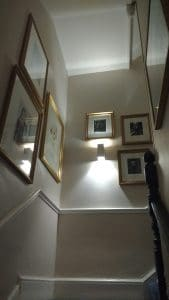 Pictures we hung in the stairwell of Abbey Hotel in Bath.