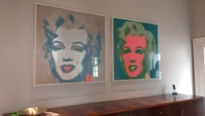 More Monroes! These particular ones are hung in a foyer in Brighton.