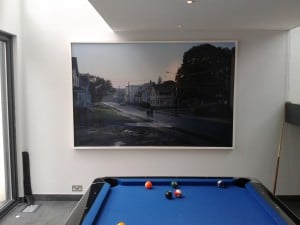 A particularly heavy Gregory Crewdson photograph installed in a house in Hove