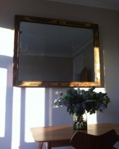 19th century antique French mirror, weighing close to 50kg. May, 2016.