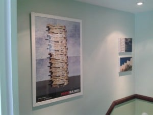 Artwork hung in a house in Lewes, East Sussex