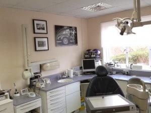Precision picture hanging at Kelsham Dental Care, Cranleigh, Surrey.
