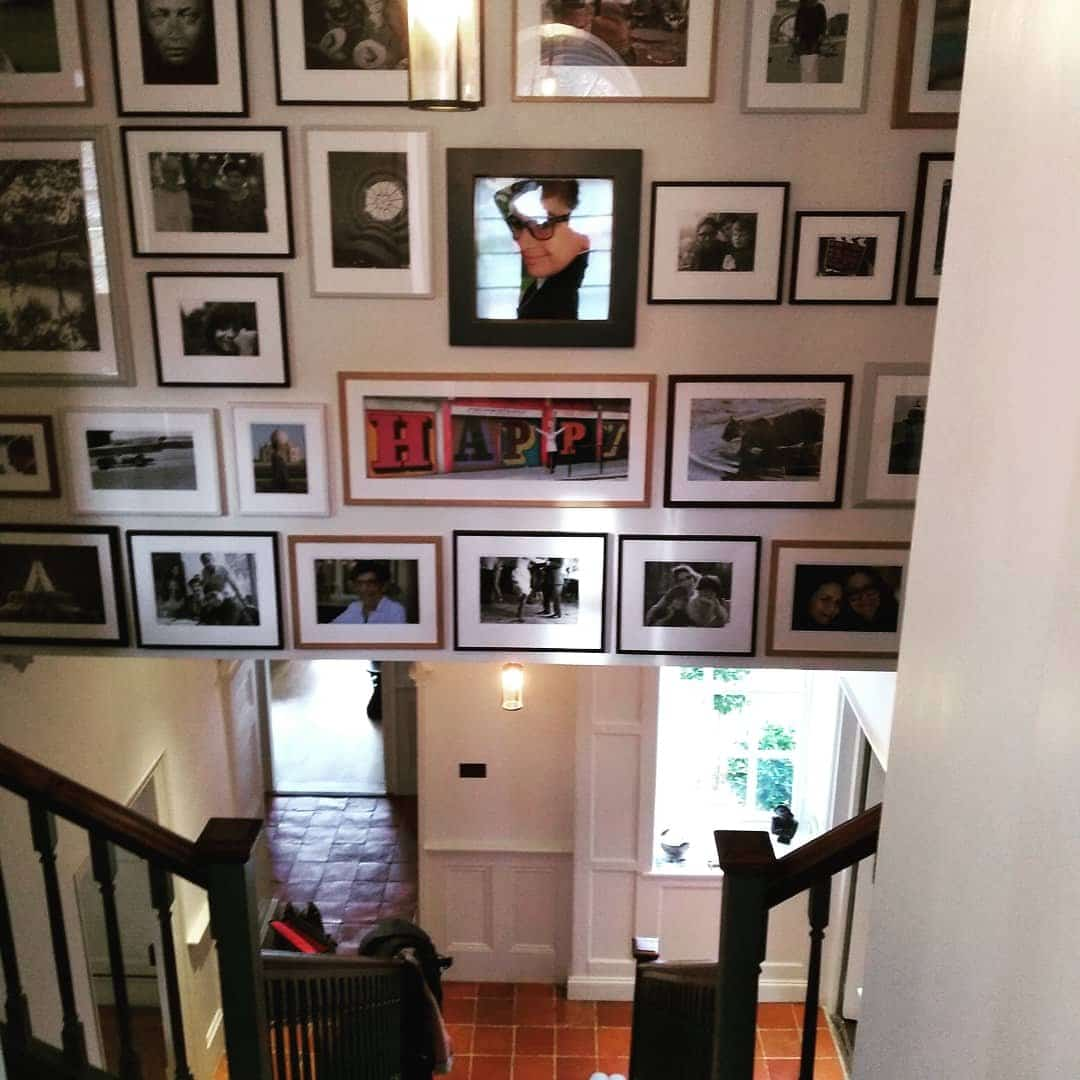 Photo montage above stairs in Newhaven, East Sussex